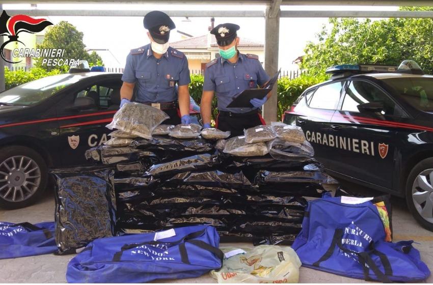 Montesilvano: sequestrati 53 chili di marijuana, arrestata una donna