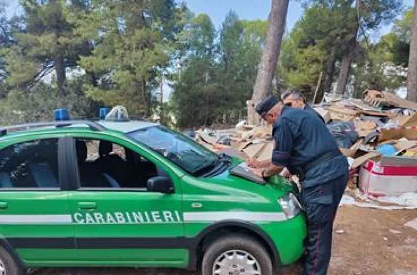 Pescara, Forestali sequestrano un'aera di 500 metri quadrati a Colle Orlando