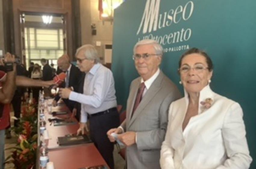 Taglio del nastro con Vittorio Sgarbi per il Museo dell'Ottocento più importante d'Italia