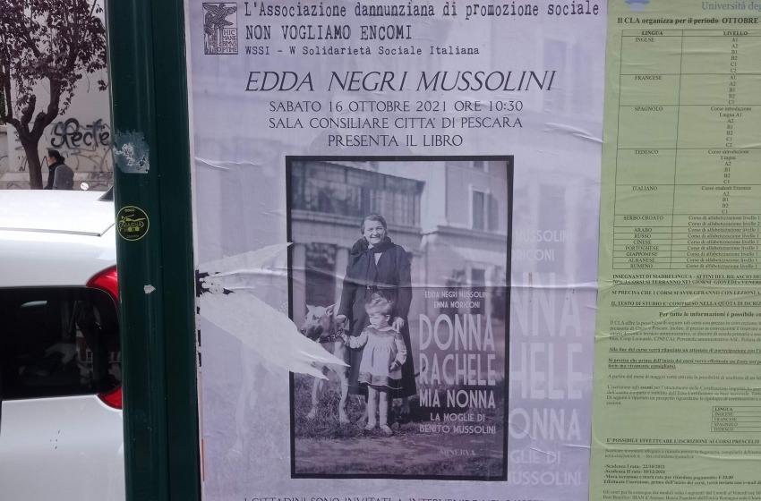 La nipote di Mussolini arriva a Pescara. Per Rifondazione c'è il reato