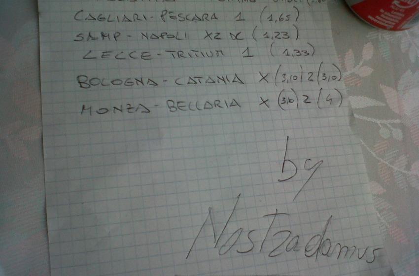 """Il """"foglio"""" di Nostradamus"""