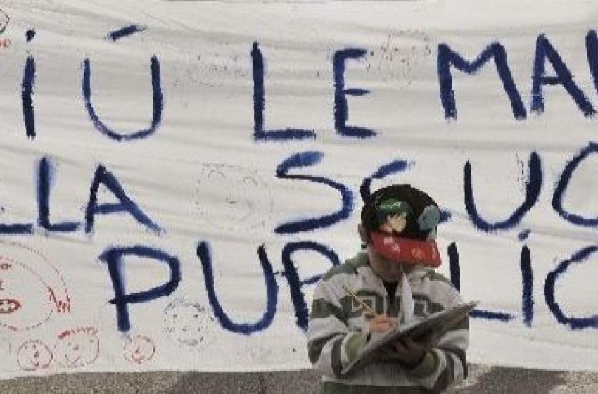 La protesta degli studenti