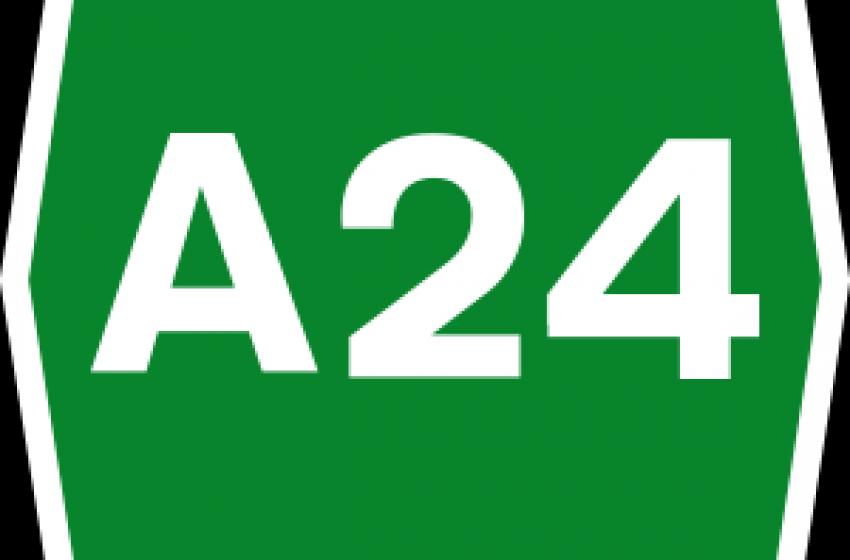 Bufera sull'A24 (e Toto)