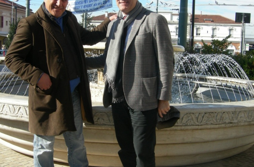 La fontana in piazzale Marconi