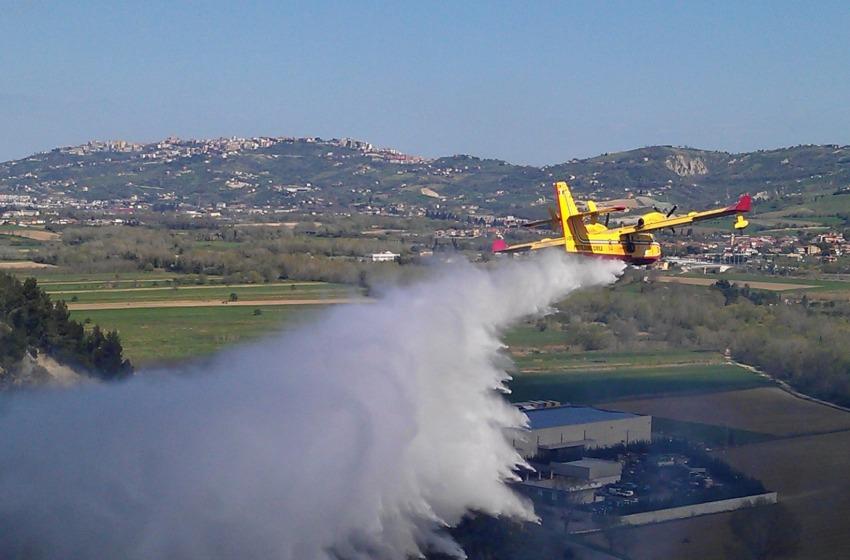 Incendio Rosciano (foto)
