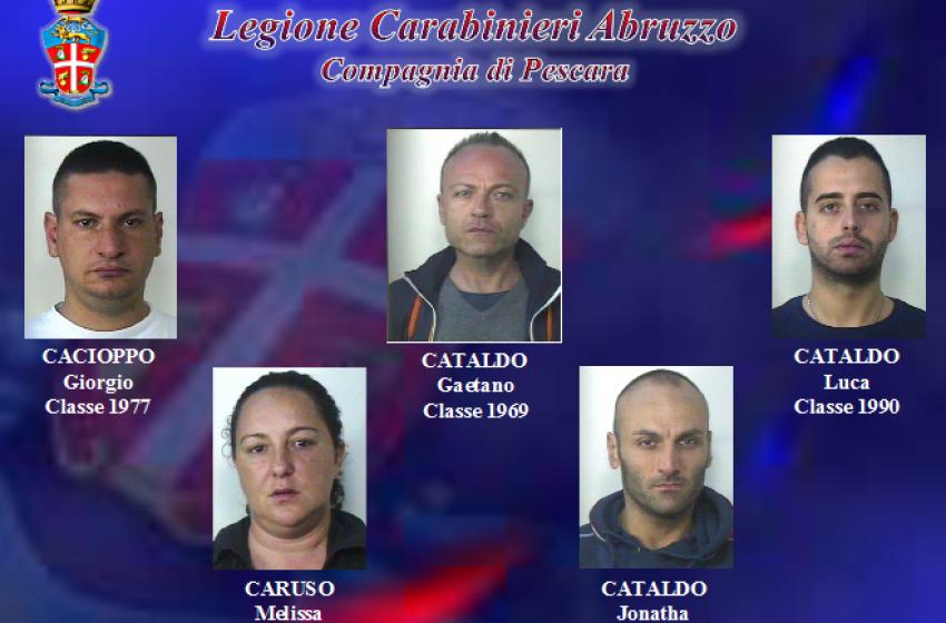 Far west a Pescara, 4 arresti