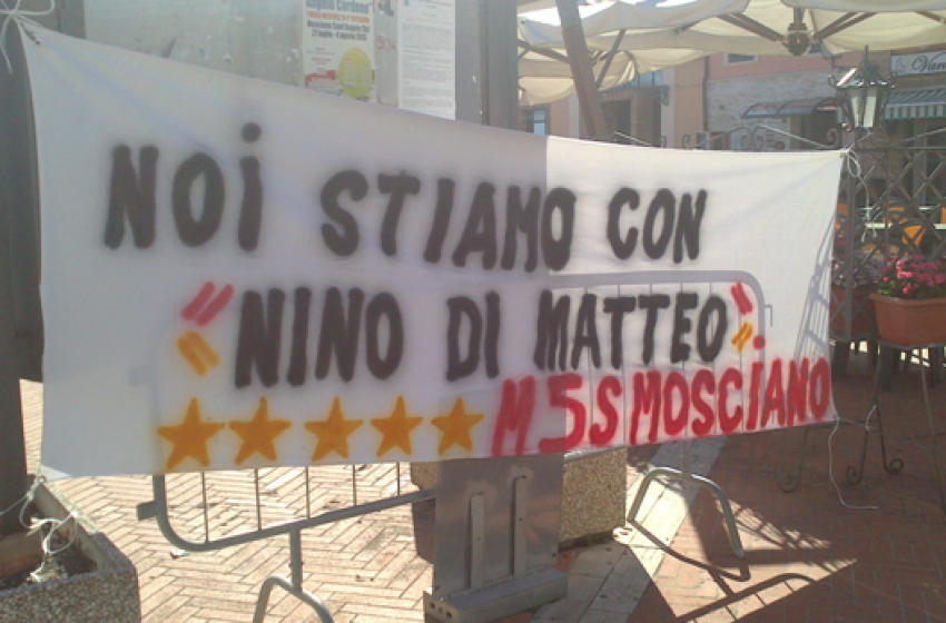 Mosciano 5Stelle: Stiamo col magistrato Di Matteo