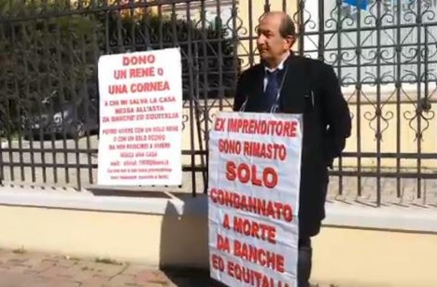 L'imprenditore pronto a vendere parti del corpo accusa Equitalia
