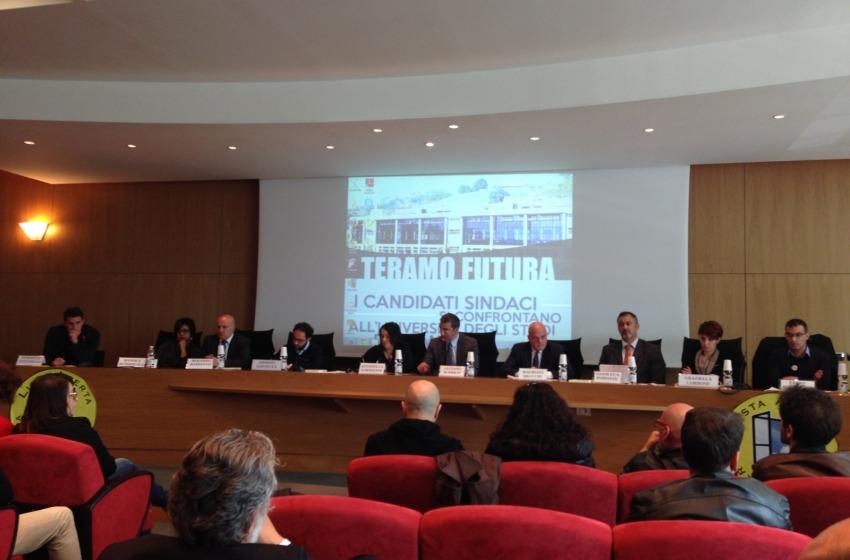 Dibattito all'Università tra studenti e candidati sindaci di Teramo