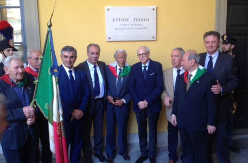 Milano celebra l'eroe, Fausto Troilo comandate della Brigata Maiella